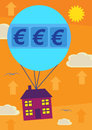 Euro House Price Increase Stock Photo