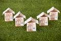 Euro Houses On Grassy Land Royalty Free Stock Photo