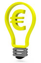 The euro light bulb d generated picture of a Royalty Free Stock Photos