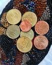 Euro menniczy pieniądze Zdjęcie Royalty Free