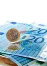 Euro money background Stock Images