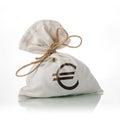 EURO money bag Royalty Free Stock Photo