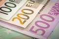 Euro money banknotes and Royalty Free Stock Images