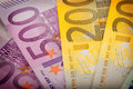 Euro money banknotes from to Royalty Free Stock Photo