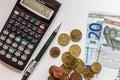 Euro money budget cuts