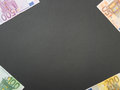 Euro money corners banknotes in the with lots of space in the middle for your financial bonus cashback gifts and presents copy Stock Photos