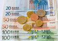 Euro money european union currency and coins Stock Photography