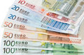 Euro money european union currency notes Royalty Free Stock Photography