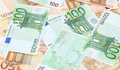 Euro money fifty and one hundred bills Stock Photography