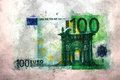 Euro money impressionism painting finance art drawing oil painting style Royalty Free Stock Photos