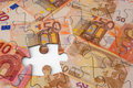 Euro Money Jigsaw Royalty Free Stock Photo