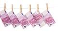 Euro money laundering Royalty Free Stock Photo