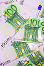 Euro money many banknotes making european currency background Stock Photography