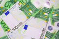 Euro money many banknotes making european currency background Stock Images