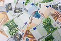Euro money many banknotes making european currency background Royalty Free Stock Image