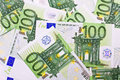 Euro money many banknotes making european currency background Stock Photos