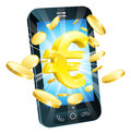 Euro money phone concept Stock Images