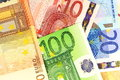 Euro notes as background european currency money macro details of Royalty Free Stock Photography