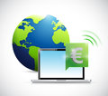 euro online currency concept illustration design Royalty Free Stock Photo