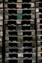 Euro pallets Stock Photo