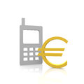 Euro payment with a mobile device Royalty Free Stock Photo