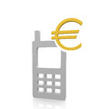 Euro payment with a mobile device Stock Photography