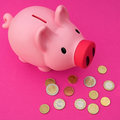 Euro (piggy) bank Stock Photo