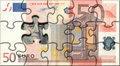 Euro puzzle Royalty Free Stock Photography