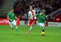 EURO 2016 Qualifying Round Poland vs Rep. of Ireland Royalty Free Stock Photo