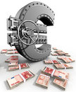 Euro Safe Royalty Free Stock Images