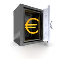 Euro a safe with an symbol Stock Photography