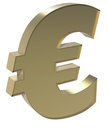 Euro sign in gold Stock Photo