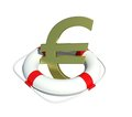 Euro sign in lifebuoy Stock Photo
