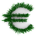 Euro Sign Made of Grass Royalty Free Stock Image