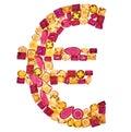 Euro Sign. Rich Finance Concept. Design Gemstone Royalty Free Stock Photo
