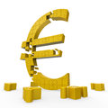 Euro Sign Shows Money Investment In Stock Images