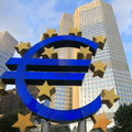 Euro sign stock photo european central bank in frankfurt Royalty Free Stock Image