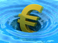 Euro sinks Stock Photo