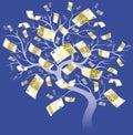 Euro sto drzew dwa Obrazy Royalty Free