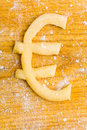 Euro symbol as cookie Stock Image
