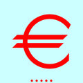Euro symbol it is color icon .