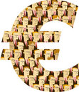 Euro Symbol made of Businessmen Stock Images