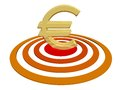 Euro on Target Stock Photography