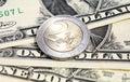 Euro tasso di avvicendamento del dollaro   Immagini Stock