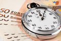 Euro Timer Royalty Free Stock Photography
