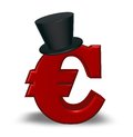Euro with topper red symbol d illustration Royalty Free Stock Photography