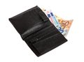 Euro in wallet Royalty Free Stock Photo