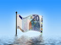 Euro woes Royalty Free Stock Photo