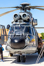 Eurocopter as super puma albacete spain jun helicopter taking part in a static exhibition on the open day of the airbase of los Stock Photos