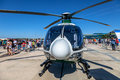 Eurocopter ec albacete spain jun helicopter taking part in a static exhibition on the open day of the airbase of los llanos on jun Royalty Free Stock Photography